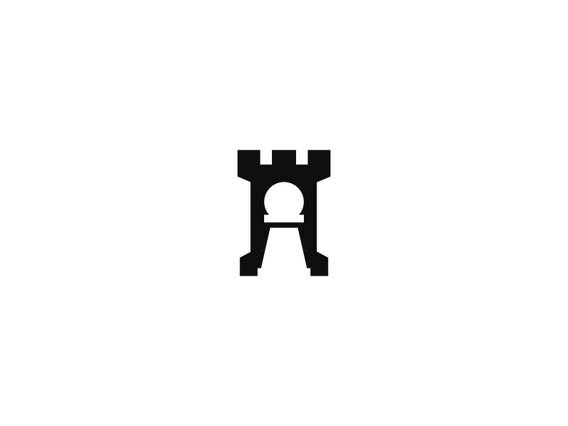 Rook   Pawn design logo sophisticated simple minimal app icon
