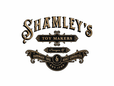 Shamley S Toy Makers victorian typography branding vector logo design retro luxury vintage-modern organic sophisticated vintage
