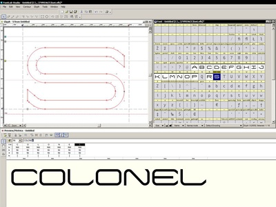 First Time Fontlab wip linear geometric allcaps display monospaced typeface fontlab