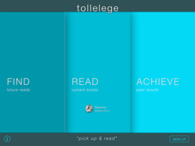 Tolle Lege — home screen concept