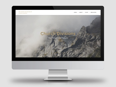 Church Divisions website christianity web design history division church branding