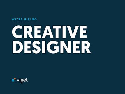 We're Hiring a Creative Designer jobs hiring branding ui web design