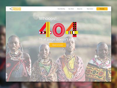 DailyUI 008/100 404 Page colors design web dailyui sonora mexico nonprofit ui web design 404error 404 page 404