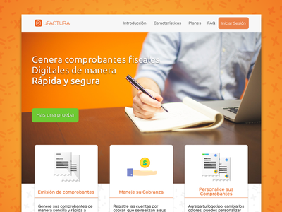Hello Dribbble, My first shot! a Landing page ufactura mexico sonora sketch page landing landingpage webdesign firstshot myfirstshot web