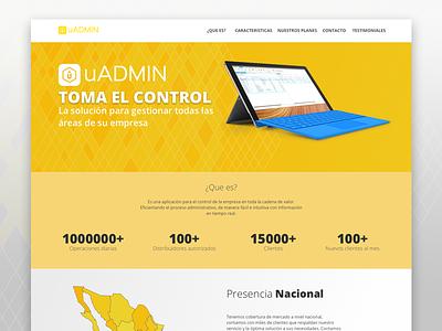 uAdmin page emcor uadmin yellow landing landingpage mexico sonora diseño page design webdesign web