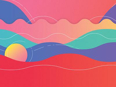 Waves ondas lineas concepto colores mexico sonora colors gradient wave concept illustration waves