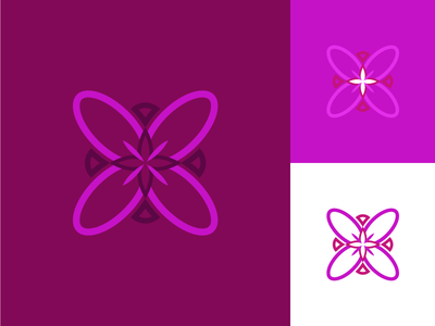 Flower Icon colors contrast mx mexico purple isotype logo abstrac flower icon