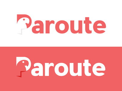 Paroute | Logo design agile routes planning tech app logotipo mexico sonora parrot route paroute logo