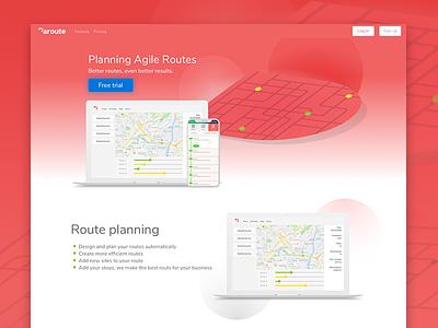 Paroute | Landing agile routes paroute design webdesign web