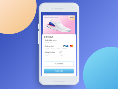 DailyUI 002/100 Credit Card Checkout sonora shoes uidesign 002 sneakers mobile creditcard checkout mexico challenge ui dailyui