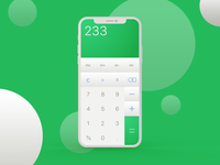 DailyUI 004/100 Calculator UI