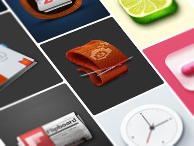 2015 UI设计全作品 pseudo-materialization 图标 ui icon