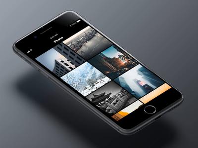 Photo Motion photo app black uxd ue motion ui ux design design