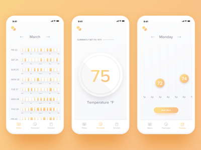 Thermostat App challenge dial gradient thermostat app app thermostat mobile