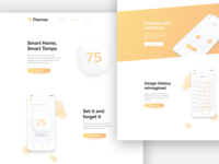 Landing Page for a Thermostat App