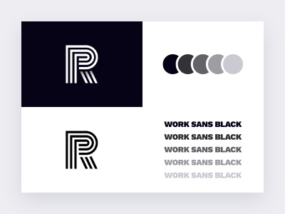 R Logo Branding Mark letter branding letter logo ryan portfolio self logo self branding branding logo r