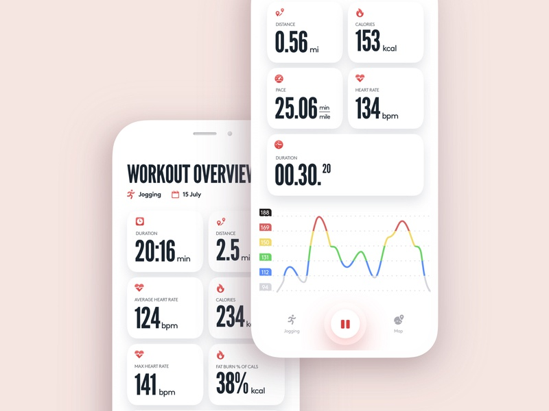 Polar Beat App fitness tracker tracker fitness rate heart heart rate app hear rate monitor heart rate polar workout ui workout app workout fitness ui fitness app