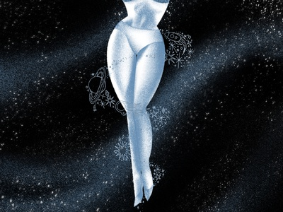 Legs for Lightyears pin-up science fiction sci-fi space illustration