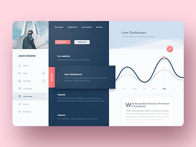 Admin Dashboard Web App interface clean career graph minimalism resume jobs app dashboard