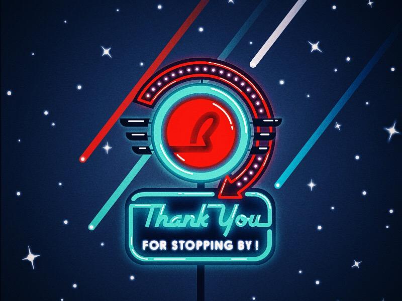 Buddy's Logo & Branding No. 2 san diego neon sign 50s diner bright shiny sign neon illustrator vector diner 50s