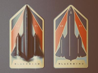SR-71 Badge Design balboa park san diego icon fastest speed movement vintage vector blackbird sr-71 pin badge