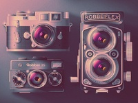 Retro Camera Montage