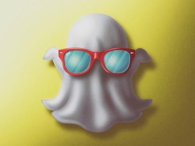 Chill Skeuomorphic Snapchat Icon