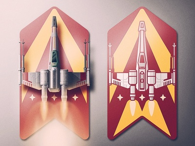 Rebel Aces the force san diego star wars skeuomorphism ace rebellion lighting grain icon badge xwing starwars