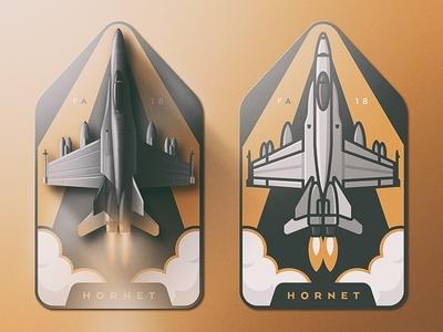 F/A-18 Hornet Badge Design