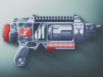 Skeuomorphic Lesson san diego weapons retro futuristic magnum gun skeuomorphic flat ammo