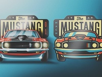 '69 Mustang Skeuomorphic Badge