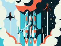 Space Racin' Artwork Concept