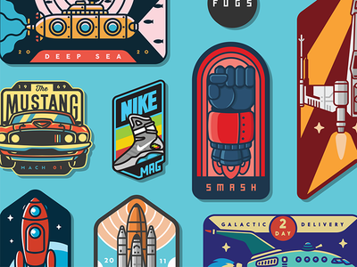 2017 Badge Collection collection san diego sticker fist rocket space futurama badge smash fugs