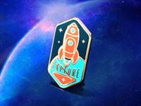 Space Explorer's Hard Enamel Pin