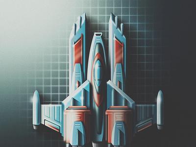 Skeuomorph Space Racin' san diego noise retro speed rocket futuristic future racing race spaceship