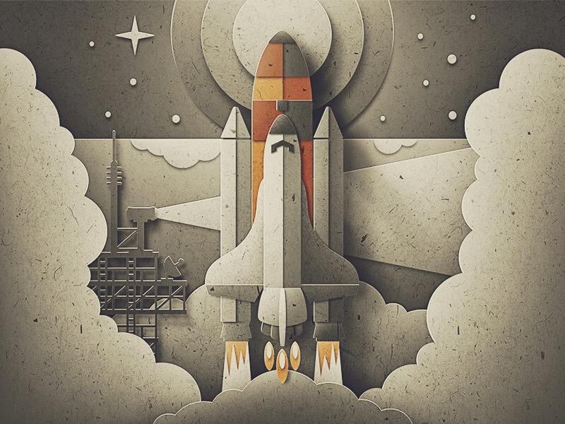 Paper Shuttle Launch san diego outer space cutout rocket space nasa launch shuttle texture paper