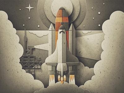 Paper Shuttle Launch
