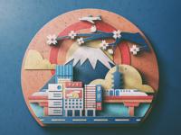 Japan/Tokyo Digital Paper Popup