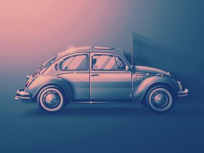 '69 Volkswagen Bug san diego old school shiny clean fresh noise classic skeuomorphic car beetle bug volkswagen