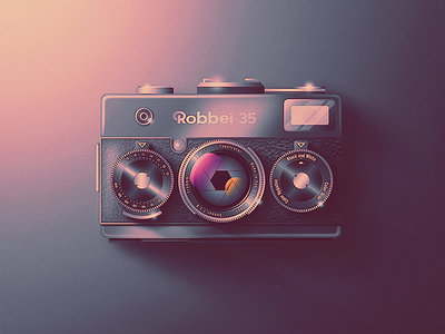 Skeuo Retro Camera Icon No.1 san diego photography classic shines film rollei lenses dials retro camera skeuomorphic