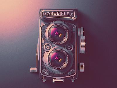 Skeuo Retro Camera Icon No.2 san diego skeuomorphic shines rollei retro photography lenses film dials classic camera