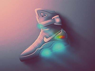 Nike Air Mag Skeuo Icon back to the future san diego air mag lights classic retro 80s sneakers shoes kicks mag nike