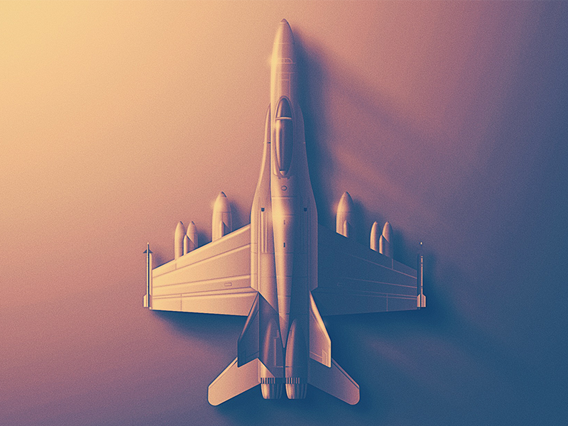 F-18 Hornet Skeuo Icon skeuomorphic pilot sky fighter flying fly plane aerospace san diego jet f-18