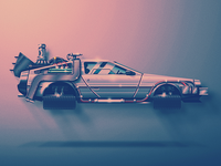 Skeuo Vector Delorean
