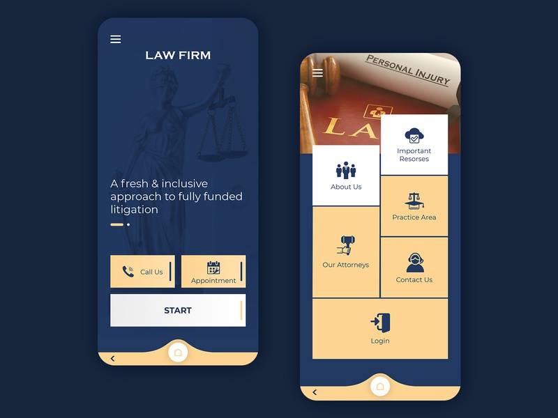 Law Firm UI Concept law firm law photoshop clean fantasy graphic modern prototype xd concept design branding ux ui