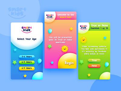 Kids Game Mobile App UI children creative ui modern colorful concept design android mobile app ux game ui kids