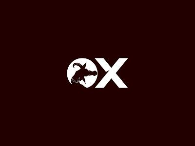 Ox Logo icon modern creative vector clean minimalist illustration design concept logo bull ox