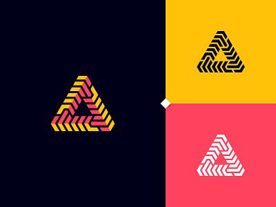 Trigonal Logo Design Concept clean creative concept design modern branding vector steps trigonal trigonometry geometric logotype logo triangle