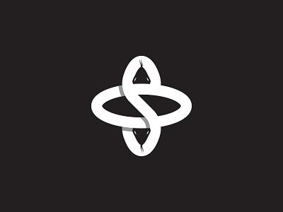 Letter S, Snake and Infinity sketch flat logo negative space creative modern illustration vector concept branding logotype icon danger infinity snake logo s letter