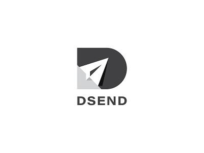 DSEND concept cool modern vector icon lettering dsend logo design logotype logo